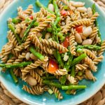 Asparagus and White Bean Pesto Pasta