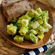 avocado cucumber feta salad