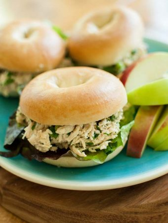 Let your slow cooker do all the work with this recipe for homemade slow cooker chicken caesar salad sandwiches.