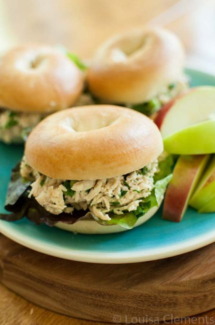 Slow Cooke Chicken Caesar Sandwiches