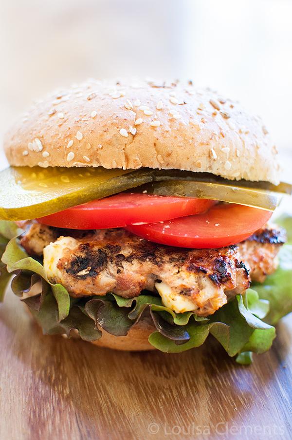 greek turkey burgers with feta
