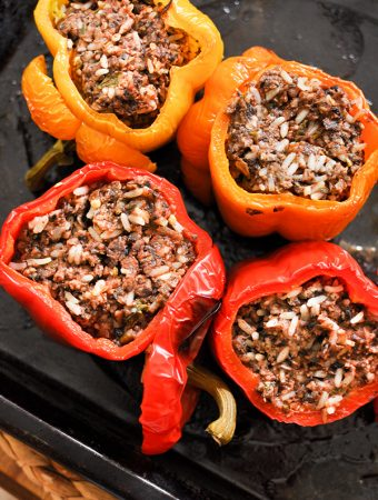 beef and mushroom stuffed peppers