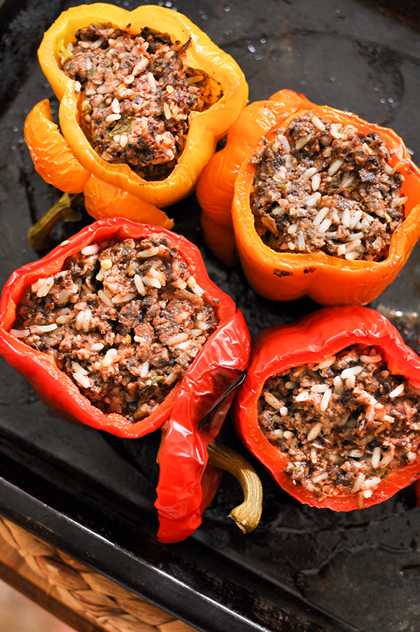 beef and mushroom stuffed peppers