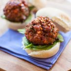 beef and mushroom meatball sliders