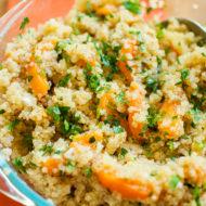 Quinoa, Apricot, Jalapeno and mint salad