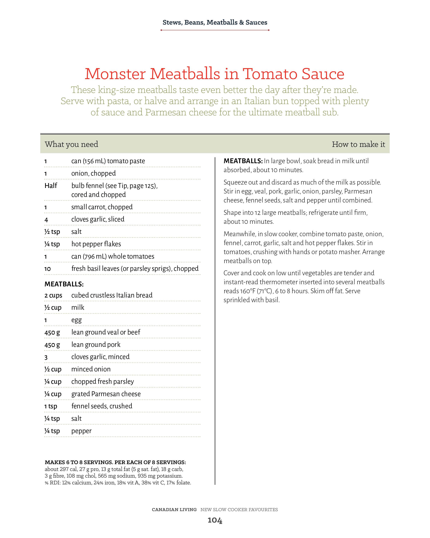 monster meatballs recipe