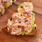 avocado and tuna toast