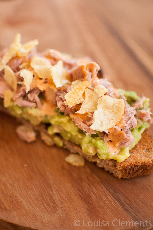 avocado tuna toast study snack