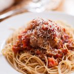 monster meatballs in tomato sauce