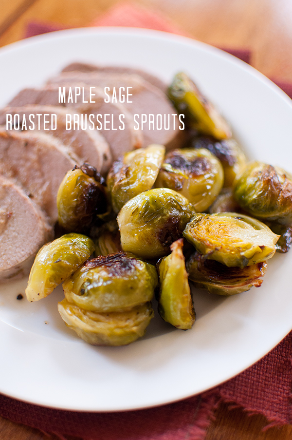 maple sage roasted brussels sprouts