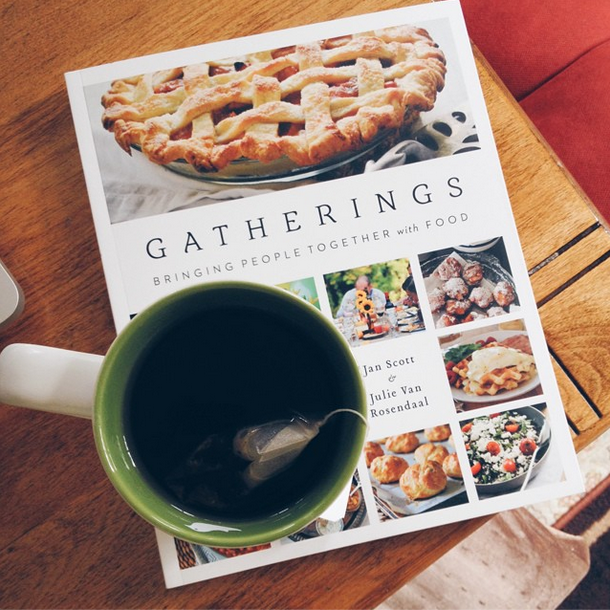 menu planning with Gatherings cookbook