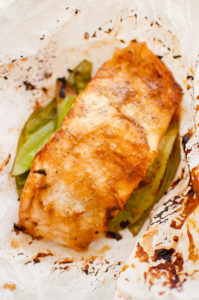 5 Ingredient Miso Salmon Baked in Parchment