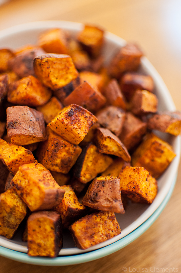 Cinnamon and Chili Roasted Sweet Potatoes