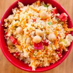 Moroccan Couscous and Chickpea Salad