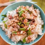 Slow Cooker Shredded Puttanesca Chicken