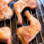Crispy and flavourful Moroccan Roasted Chicken Legs are a quick weeknight dinner | livinglou.com