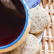 Black Currant Alokozay Tea Shortbread Cookies are the perfect snack for tea time. #TEAdays | livinglou.com