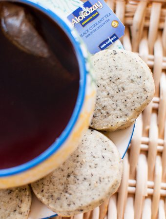 Black Currant Alokozay Tea Shortbread Cookies