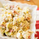 Celebrate Canada Day with this creamy, crowd-pleasing recipe for Great Canadian Potato Salad. #whatscooking | livinglou.com
