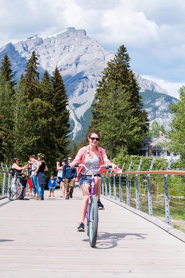 Rent a townie bike, Banff Alberta