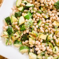 Grilled zucchini salad is the ultimate vegetarian summer dish.   livinglou.com