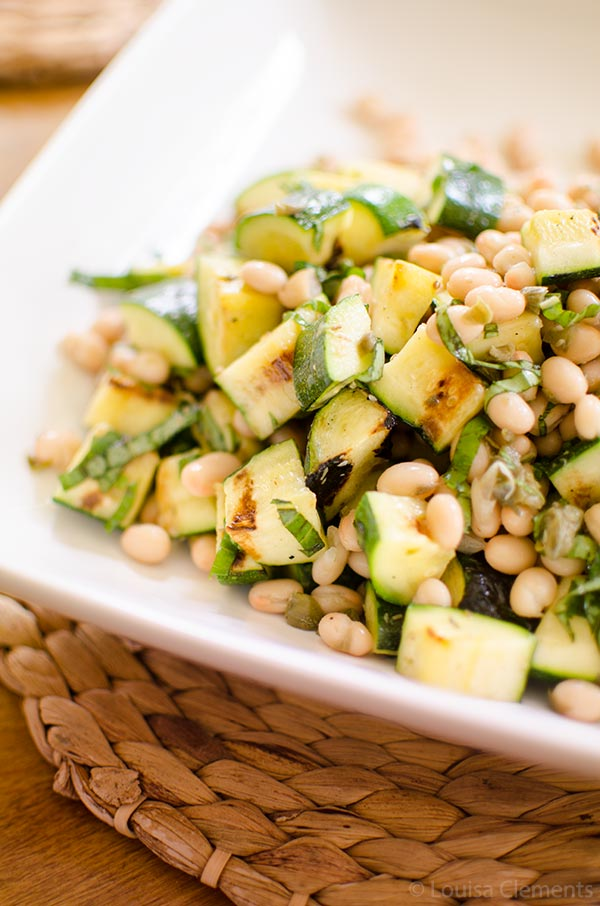 Grilled zucchini salad is the ultimate vegetarian summer dish. | livinglou.com