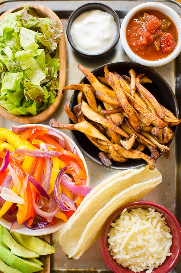 A vegetarian twist on the Mexican favourite, these fajitas are made with meaty king oyster mushrooms. | livinglou.com