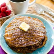 Take your buttermilk pancakes to the next level by adding coffee. | livinglou.com