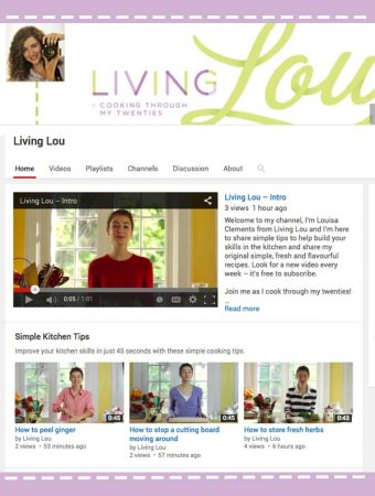 Living Lou YouTube Channel Launch