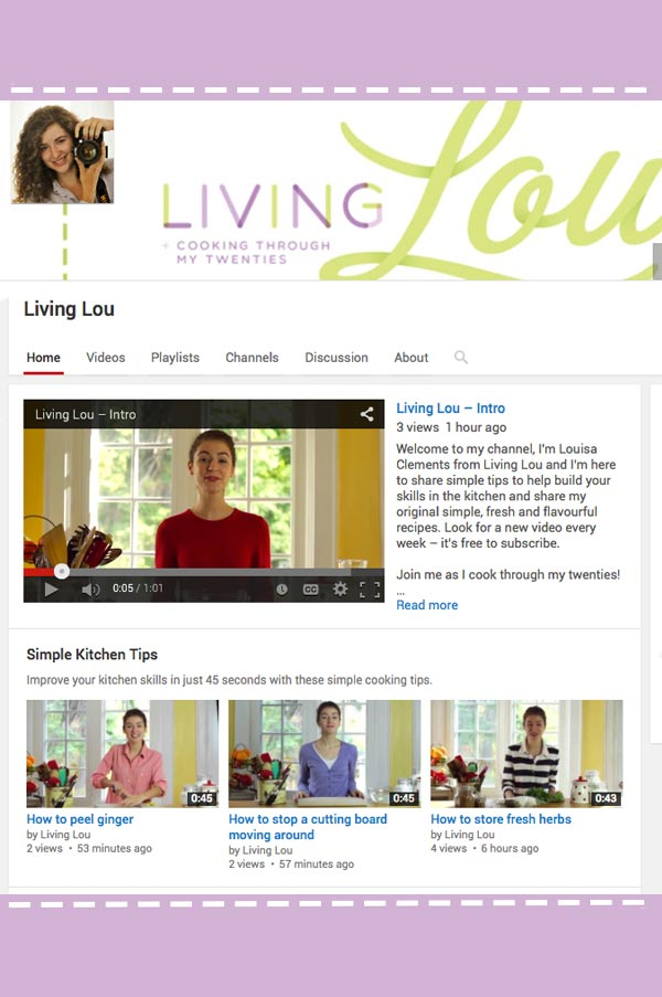 Launching my new YouTube channel, head on over for weekly videos for simple kitchen tips and great recipes. | livinglou.com