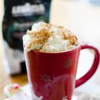 Make your own peppermint mocha at home for a delicious, festive treat perfect for spreading holiday cheer.   livinglou.com