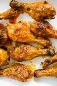 Forget about buffalo wings, these crispy baked buffalo chicken legs are the perfect crowd-pleasing, game day food for football season. | livinglou.com