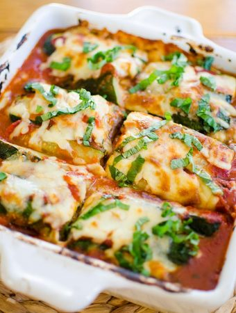 Vegetarian Zucchini and Eggplant Lasagna