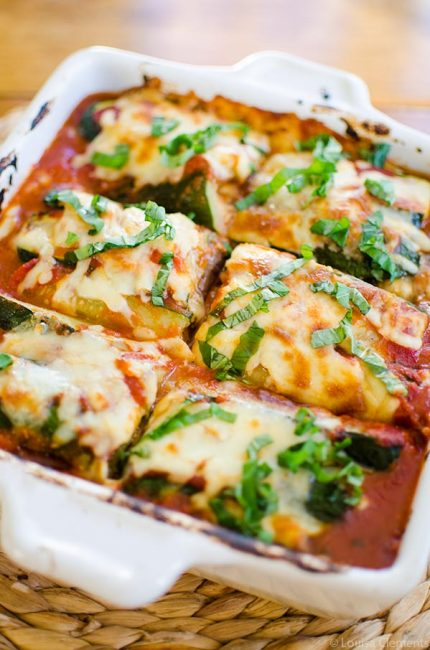 Make a healthier and gluten-free version of lasagne with this lightened up zucchini and eggplant lasagne. | livinglou.com