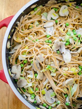 One-pot Mushroom and Leek Pasta