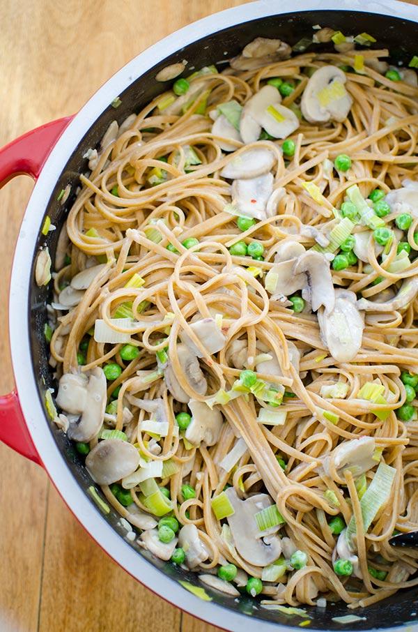 Vegetarian leek pasta recipes