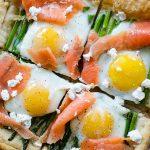 Asparagus and Egg Tart with Smoked Salmon