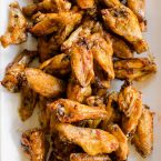 Make your favourite wings in the oven with this crispy recipe for baked teriyaki chicken wings made with baking powder and a homemade teriyaki sauce.   livinglou.com