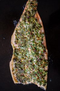 Parlsey and lemon roasted trout is a quick and flavourful dinner. | livinglou.com