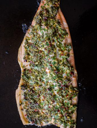 Lemon Parsley Roasted Trout