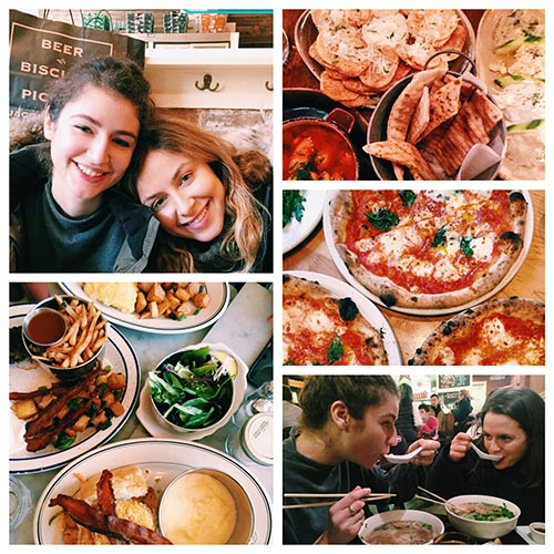 Taking a look back at the moments in February, a visit to New York with delicious eats like greek food, pizza and breakfast sandwiches.