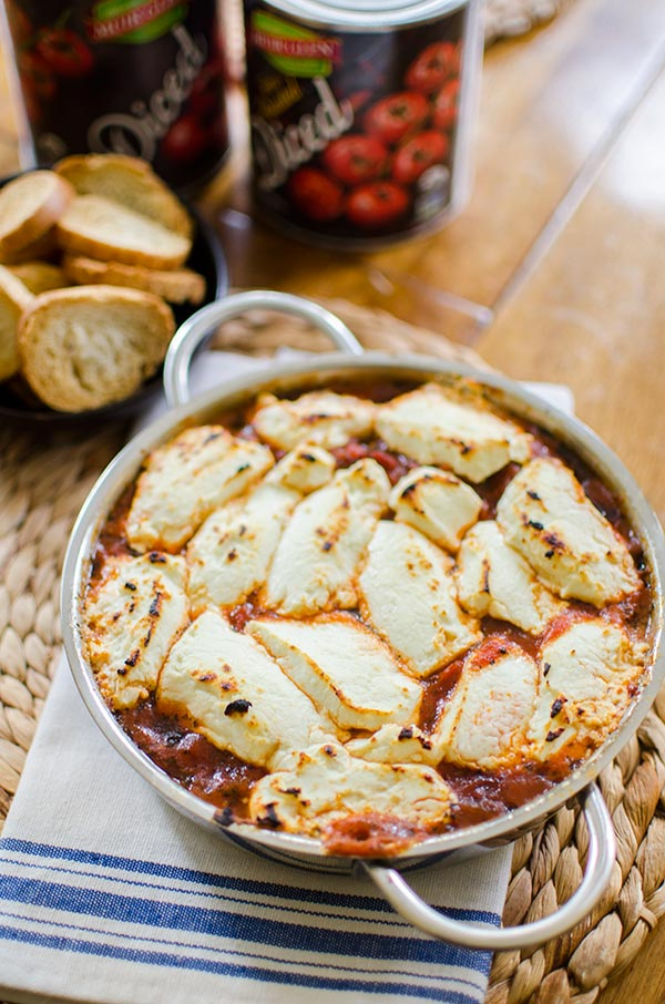 Fire roasted tomato goat cheese dip — Living Lou