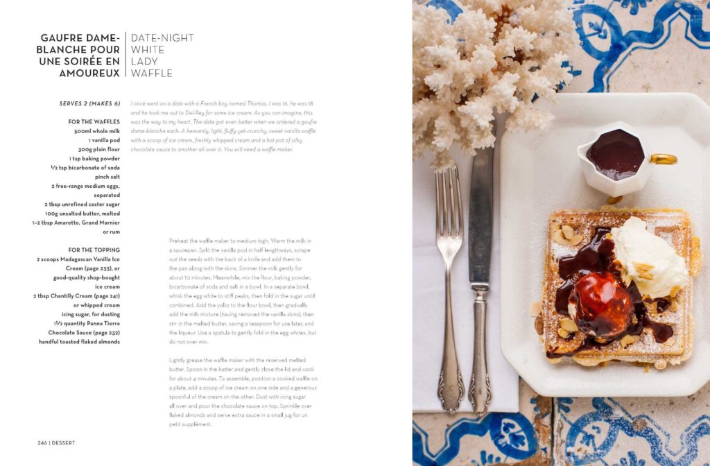 Date-night white lady waffle from 'The South of France Cookbook' by Nina Parker