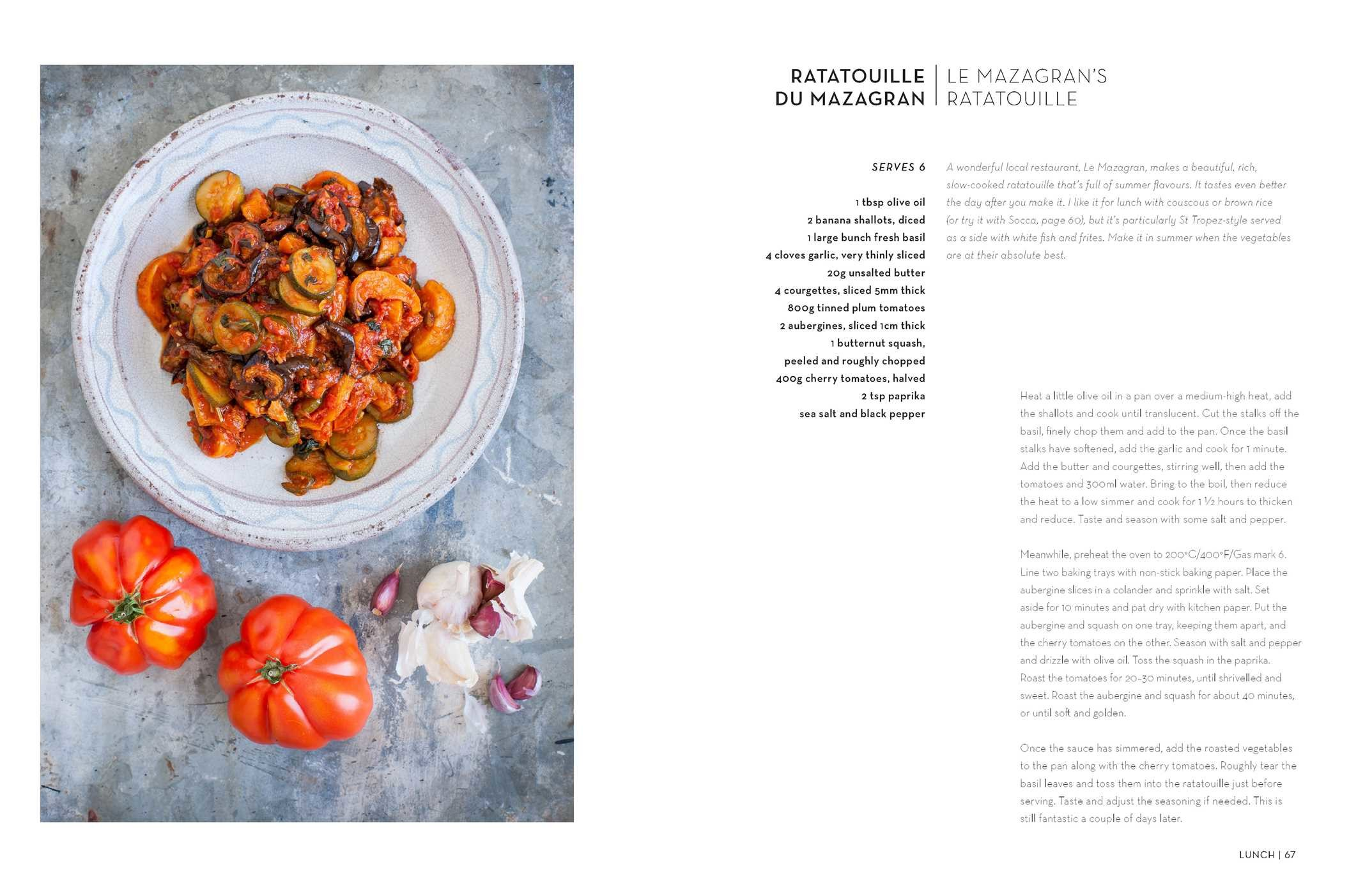 South of France cookbook ratatouille.