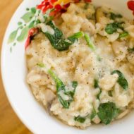 A classic recipe for spinach and mushroom risotto. | livinglou.com