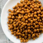 Air-fried tandoori chickpeas