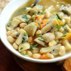Roasted garlic, mushroom and white bean stew. | livinglou.com
