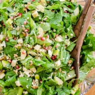 Thanksgiving chopped salad recipe with apple, brussels sprouts and feta cheese. | livinglou.com