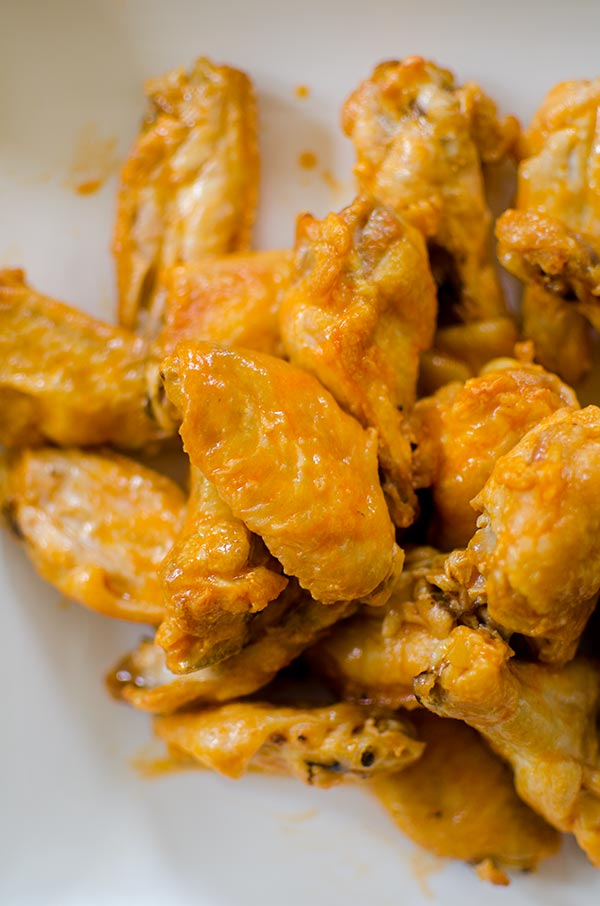 The ultimate crispy baked buffalo chicken wings. | livinglou.com