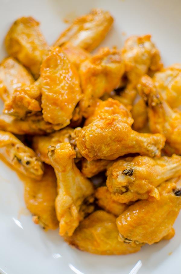 The ultimate crispy baked buffalo chicken wings. | livinglou.com